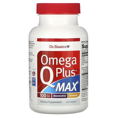 Купить Dr. Sinatra Omega Q Plus MAX, 60 Softgels