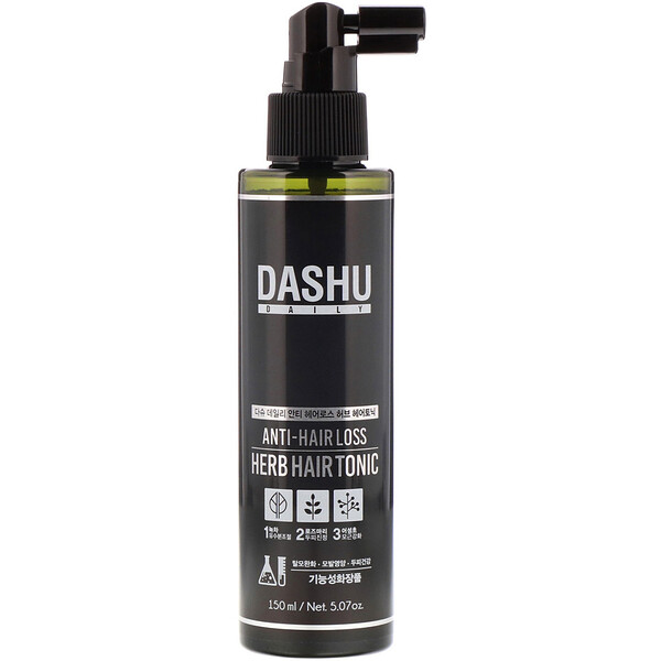 Dashu, Tônico Capilar Herbáceo Antiqueda, 5,07 oz (150 ml)