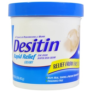 Desitin, Diaper Rash Cream, Rapid Relief, 16 oz (453 g)
