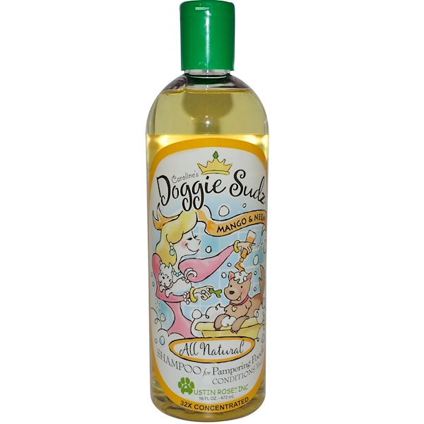 Austin Rose Inc., Doggie Sudz, Shampoo for Pampering Pooch, Mango & Neem, 16 fl oz (472 ml)