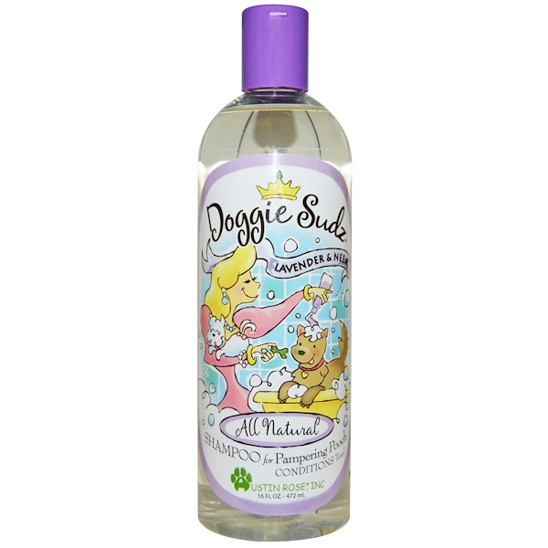 Austin Rose Inc., Doggie Sudz, шампунь для любимой собаки, лаванда и ним, 16 жидких унций (472 мл)