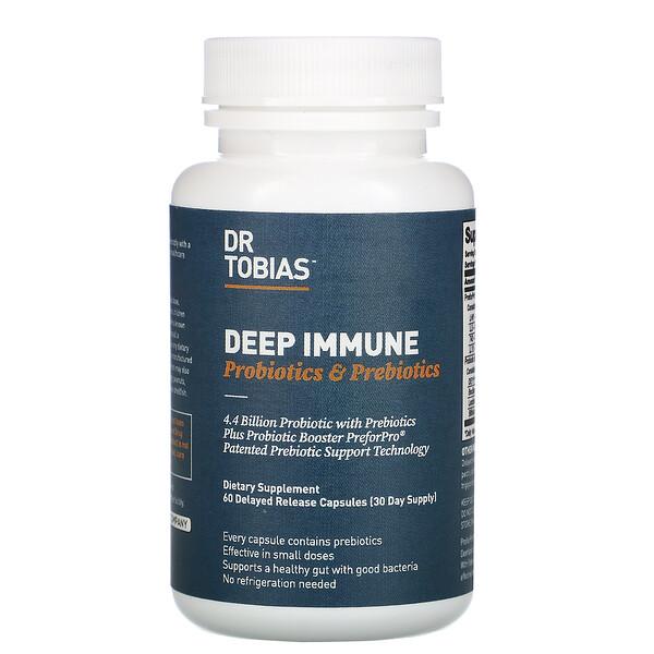 Deep Immune, Probiotics & Prebiotics, 60 Delayed Release Capsules