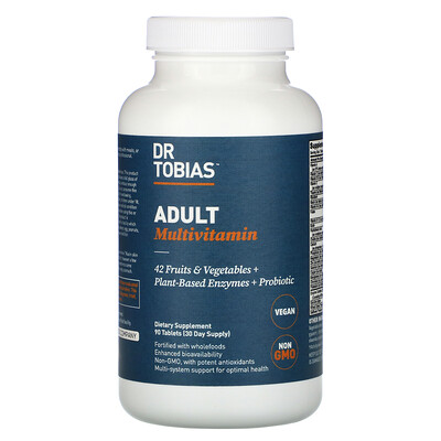 Купить Dr. Tobias Adult Multivitamin, 90 Tablets