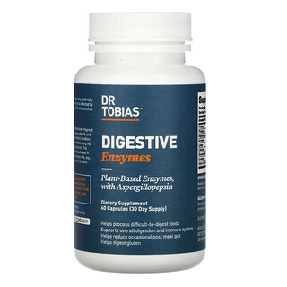 Dr. Tobias, Digestive Enzymes,  60 Capsules