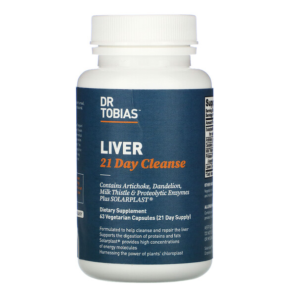 Dr. Tobias, Liver 21 Day Cleanse, 63 Vegetarian Capsules