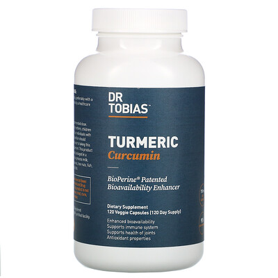 Купить Dr. Tobias Turmeric Curcumin, 120 Veggie Capsules