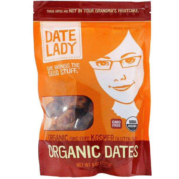 Date Lady, Organic Dates, 8 oz (227 g)