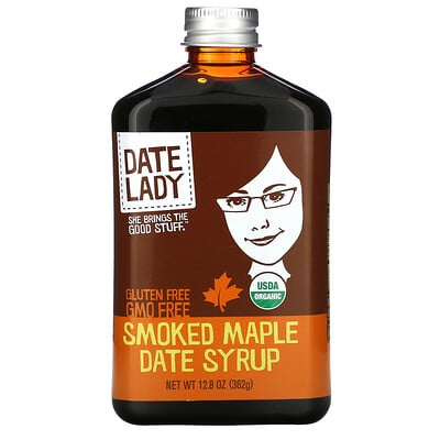 Купить Date Lady Gluten Free, Smoked Maple Date Syrup, 12.8 oz (362 g)