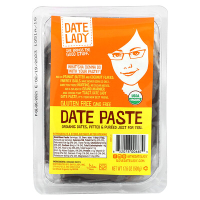 Date Lady Date Paste, 17.6 oz (500 g)