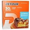 Detour, بار واي بروتين ، كرمل الفول السوداني، 12 بار، 3 أوقية (85 جرام) كل بار