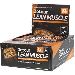Детур, Lean Muscle Bar, Cookie Dough Caramel Crisp, 12 Bars, 3.2 oz (90 g) Each отзывы покупателей