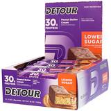 Отзывы о Detour, Батончики из сывороточного белка с арахисовым маслом и сливками, 12 батончиков по 3 унции (85 г) каждый