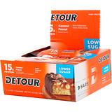 Отзывы о Detour, Батончики из сывороточного белка со вкусом карамели и арахиса, 9 батончиков, 1,5 унции (43 г) каждый