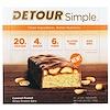 Detour, Simple, Whey Protein Bars, Caramel Peanut, 12 Bars, 2.1 oz (60 g) Each