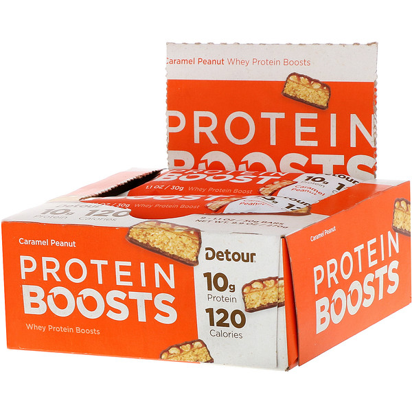 Protein Boosts Bars, Caramel Peanut, 9 Bars, 1.1 oz (30 g) Each