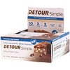 Detour, Simple, Whey Protein Bars, Chocolate Chip Caramel, 9 Bars, 1.1 oz (30 g) Each