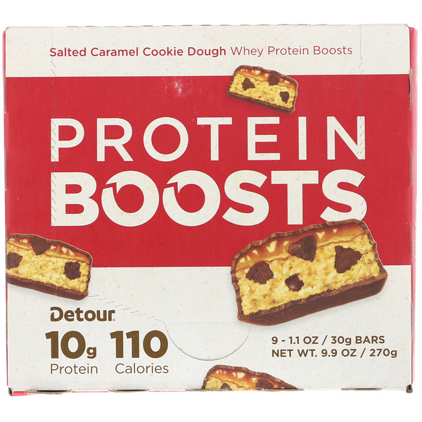 Detour, Simple, Whey Protein Bars, Salted Caramel Cookie Dough, 9 Bars, 1.1 oz (30 g) Each (Discontinued Item)