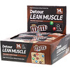 Detour, Lean Muscle Bar, Chocolate Candy Crunch M&M's, 12 Bars, 1.9 oz (55 g)