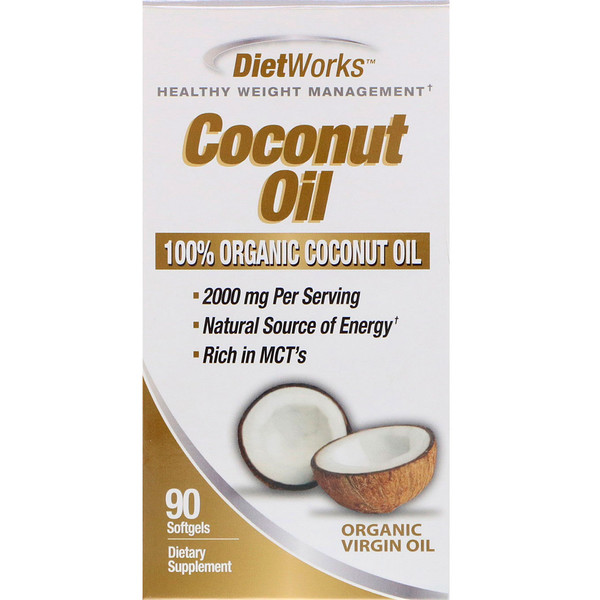 DietWorks, Coconut Oil, 90 Softgels