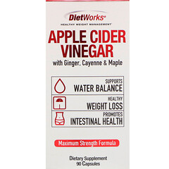 DietWorks, 蘋果醋,90 粒膠囊