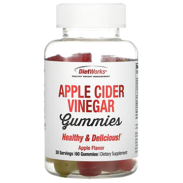 Apple Cider Vinegar Gummies, Apple Flavor, 60 Gummies