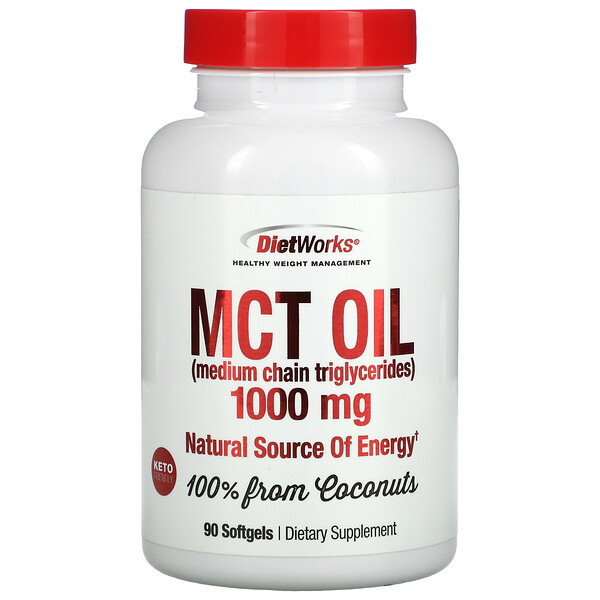 DietWorks, MCT Oil, 1,000 mg, 90 Softgels