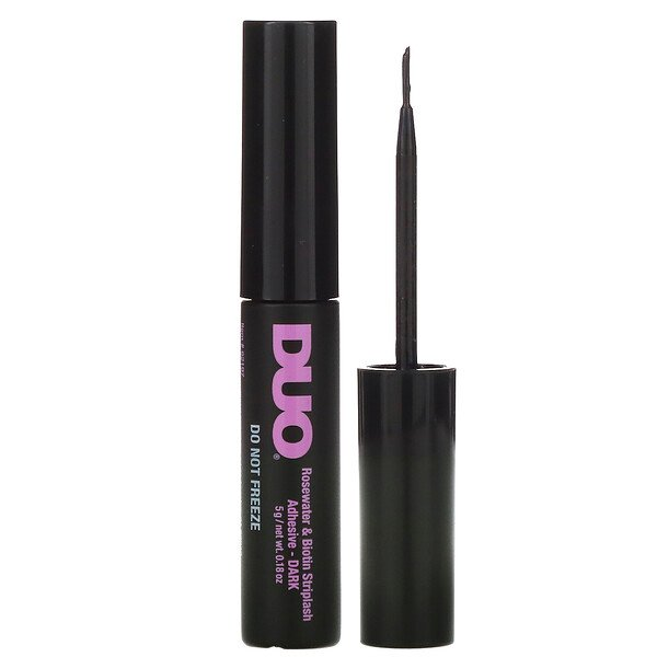 DUO, Rosewater & Biotin Striplash Adhesive, Dark, 0.18 oz (5 g)