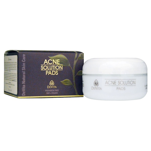 DeVita, Natural Skin Care, Acne Solution Pads, 2 oz (60 g)