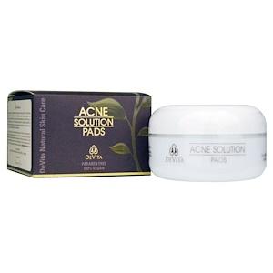 Девита, Natural Skin Care, Acne Solution Pads, 2 oz (60 g) отзывы покупателей