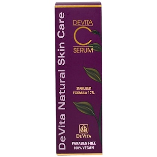 DeVita, Devita-C Serum, Stabilized Formula 17% , 1 oz (30 g)