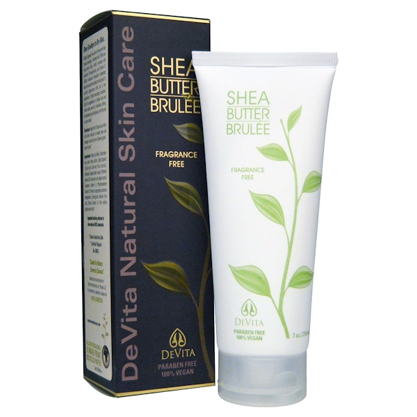 DeVita, Shea Butter Brulée, Fragrance Free, 7 oz (210 ml)
