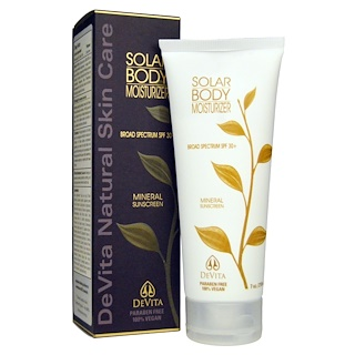 DeVita, Solar Body Moisturizer, SPF 30+, 7 oz (210 ml)