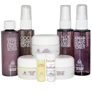 DeVita, Natural Skin Care System, Deluxe Travel Kit, 9 Piece Kit