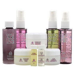 Девита, Natural Skin Care System, Deluxe Travel Kit, 9 Piece Kit отзывы покупателей