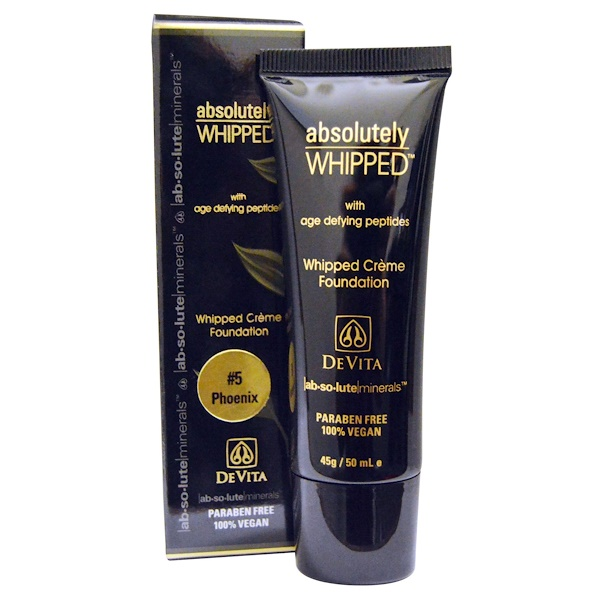 DeVita, Absolute Minerals, Absolutely Whipped Cream Foundation, Phoenix #5, 1.7 oz (50 ml) (Discontinued Item)