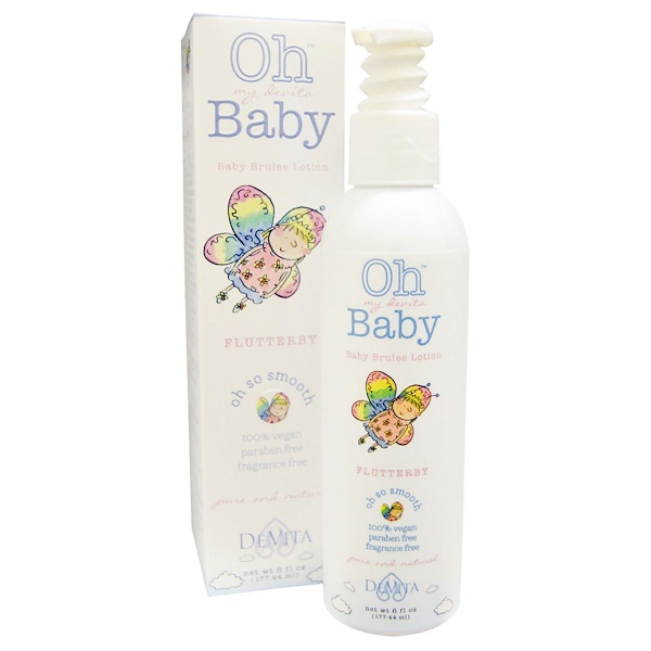 DeVita, Oh My Devita Baby, Baby Brulee Lotion, FlutterBy, Fragrance Free, 6 fl oz (177.44 ml) (Discontinued Item)