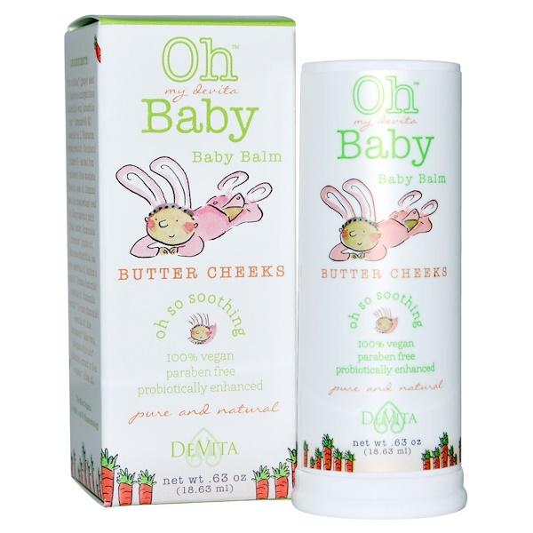 DeVita, Oh My Devita Baby™(オー マイ デヴィータ ベイビー)、ベビーバーム、バターチーク、0.63 オンス (18.63 ml) (Discontinued Item)