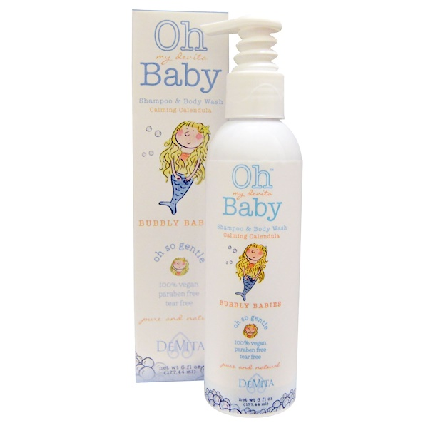 DeVita, Oh My Devita Baby, Shampoo & Body Wash, Bubbly Babies, Calming Calendula, 6 fl oz (177.44 ml)