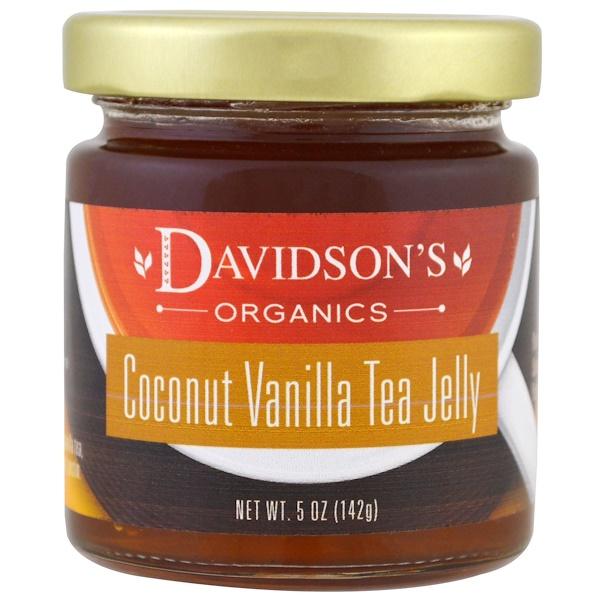 Davidson's Tea, 有機,椰子香草茶凍,5 oz (142 g)