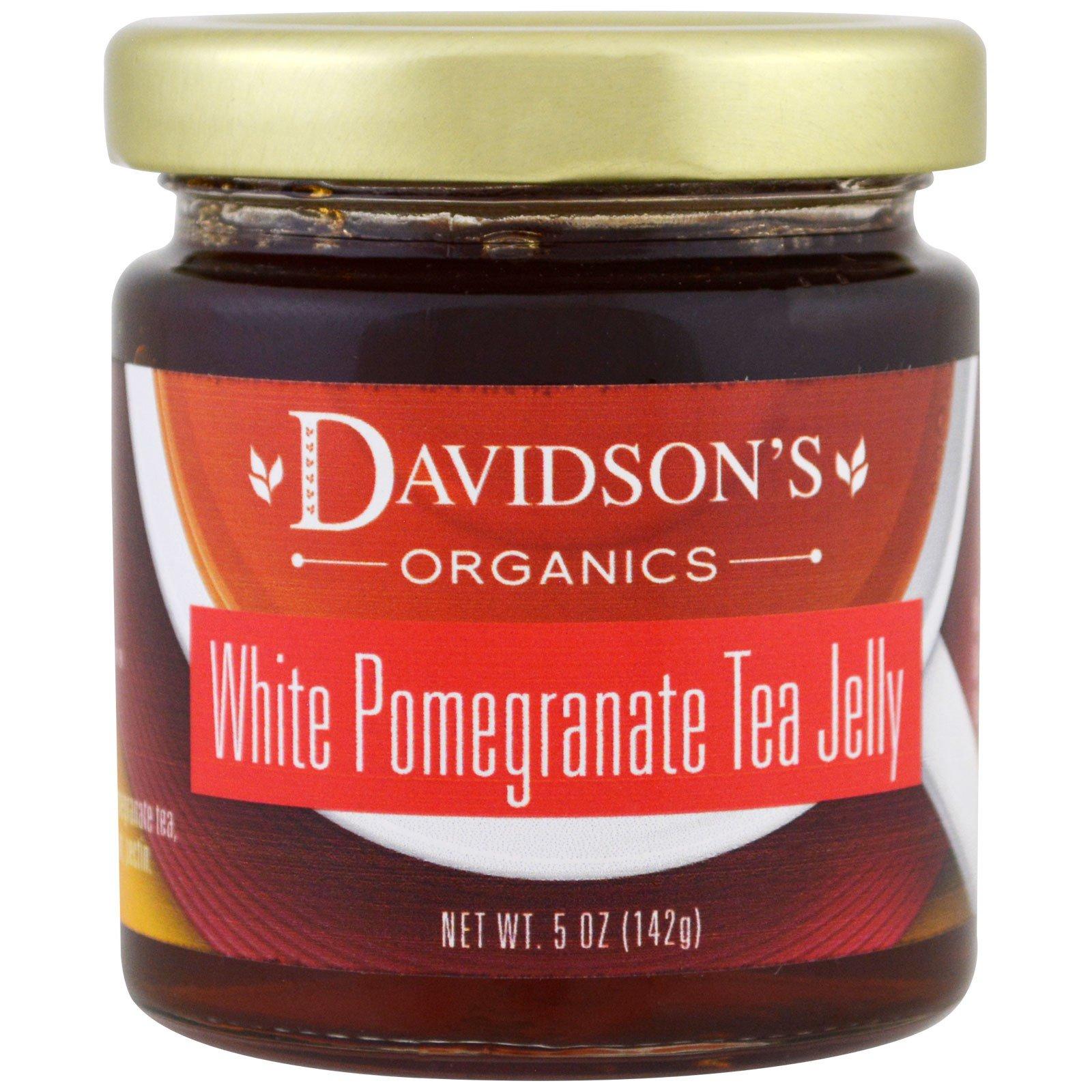 Davidson's Tea, Органический джем из чая с белым гранатом, 142 г (5 унций)