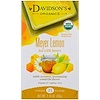 Davidson's Tea, Organic, Meyer Lemon Tea with Honey, Caffeine-Free , 25 Tea Bags, 2.18 oz (62 g)