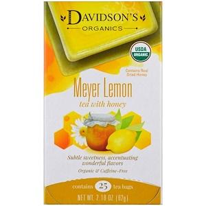 Дэвидсонс Ти, Organic, Meyer Lemon Tea with Honey, Caffeine-Free , 25 Tea Bags, 2.18 oz (62 g) отзывы
