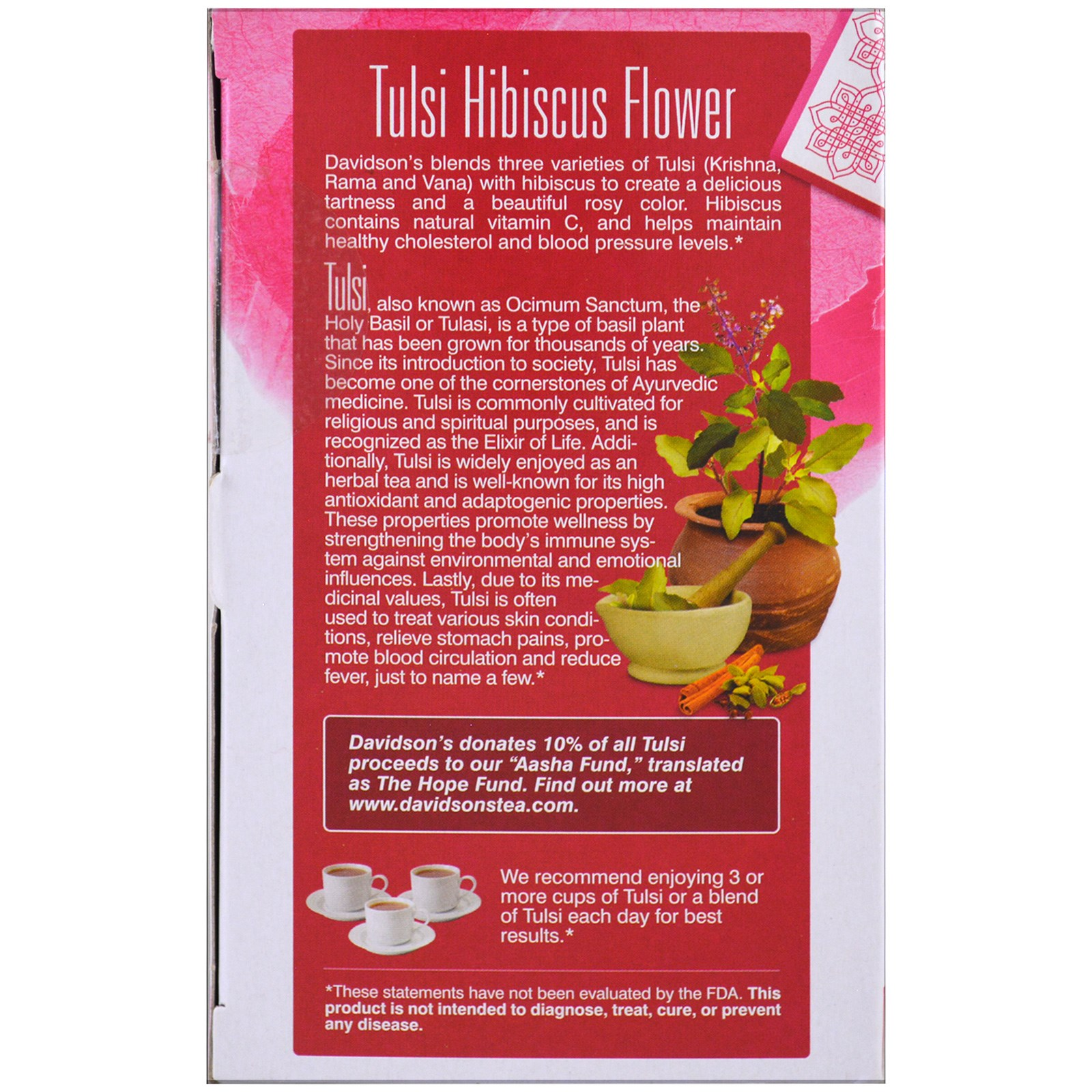 Davidsons tea tulsi organic hibiscus flower tea caffeine free click to zoom izmirmasajfo