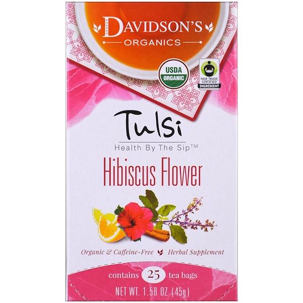 Davidson's Tea, Tulsi,有機,木槿花茶,不含咖啡因,25茶袋, 1、58 oz (45 g)
