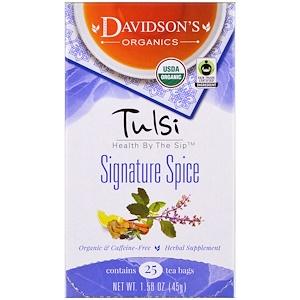 Дэвидсонс Ти, Tulsi, Signature Spice, Caffeine-Free, 25 Tea Bags, 1,58 oz (45 g) отзывы