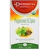 Davidson's Tea, Organic, Peppermint & Spice, Classic Tea, Caffeine-Free , 25 Tea Bags, 1.77 oz (50 g)