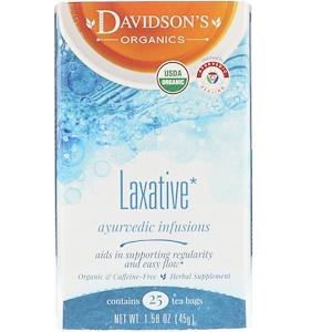 Дэвидсонс Ти, Organic, Ayurvedic Infusions, Laxative, 25 Tea Bags, 1.58 oz (45 g) отзывы