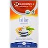 Davidson's Tea, Organic, Earl Grey Classic Tea , 25 Tea Bags, 1.77 oz (50 g)