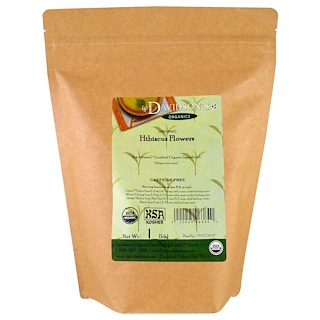Davidson's Tea, Organic, Hibiscus Flowers Tea, Caffeine-Free, 1 lb