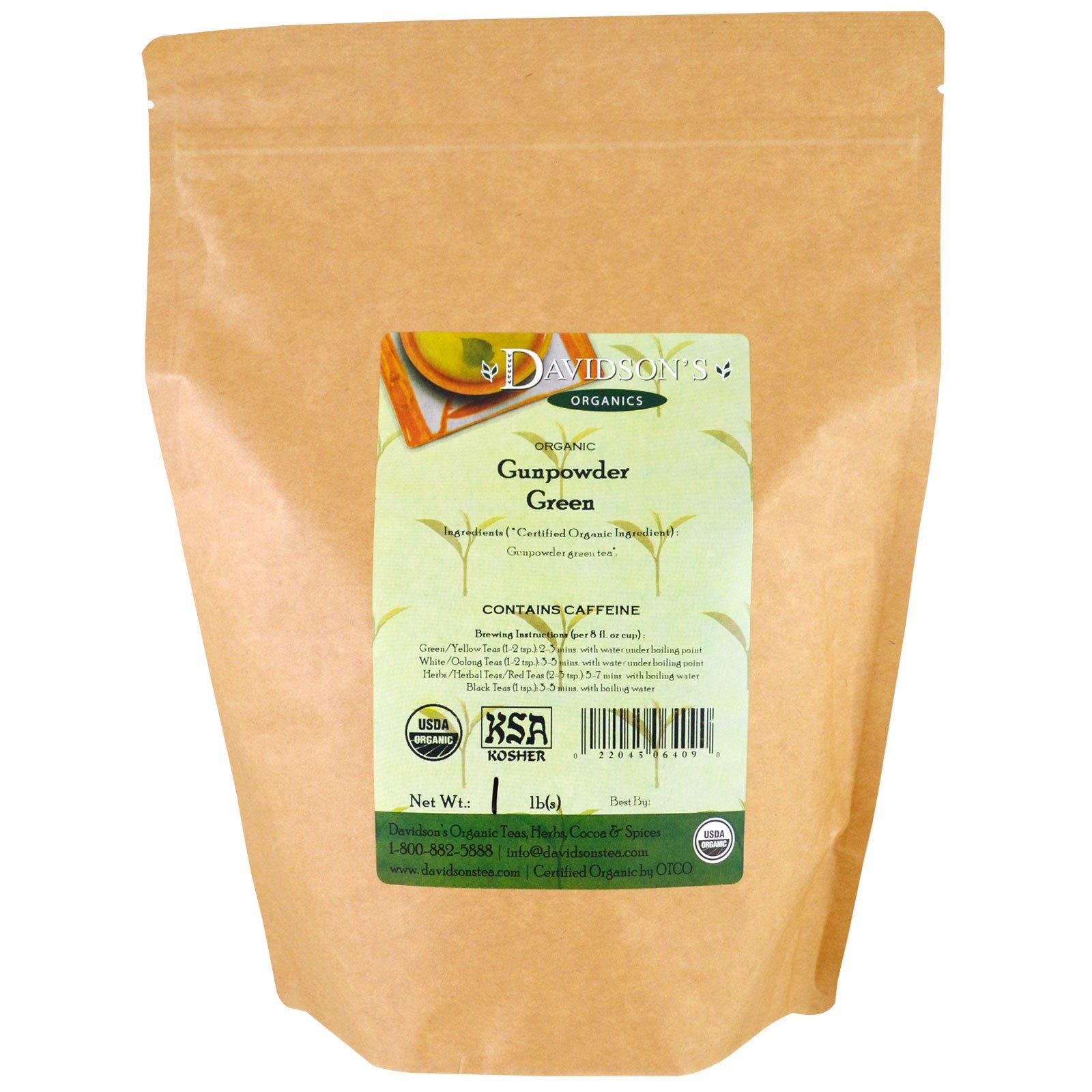 Davidson's Tea, Органический мелкий зеленый чай, 453 г (1 фунт)